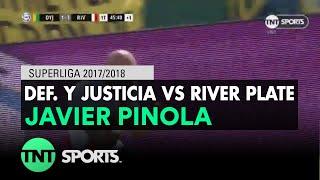 Javier Pinola (1-2) Def. y Justicia vs River Plate | Fecha 21 - Superliga Argentina 2017/2018