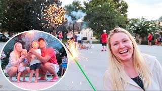 Baby's First Time Lighting Fireworks!