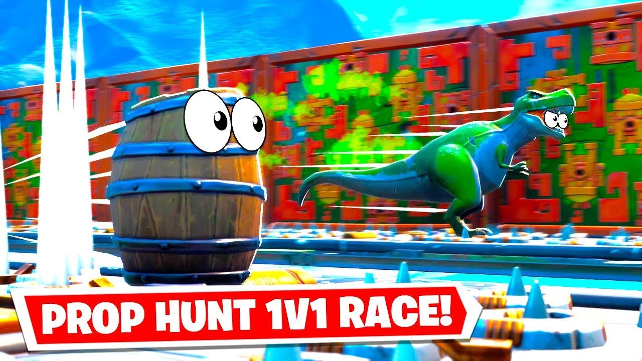 I made a Prop Hunt Deathrun RACE in Fortnite... (Fortnite ...