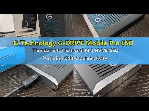 Unboxing the External NVMe Thunderbolt G Technology Mobile Pro SSD