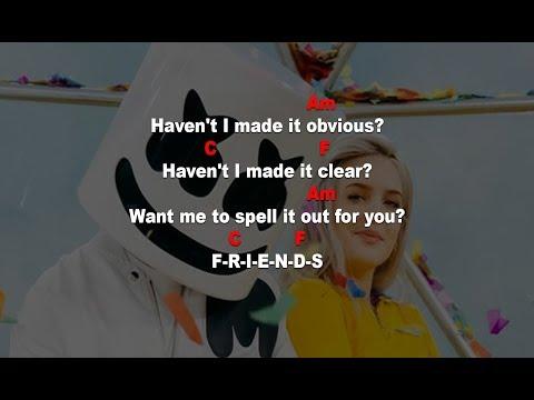 FRIENDS - Marshmello, Anne Marie - Lyrics & Chord