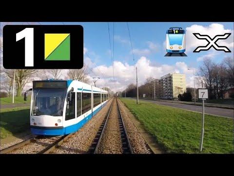 🚋 GVB Amsterdam Tramlijn 1 Cabinerit Osdorp De Aker - Centraal Station Driver