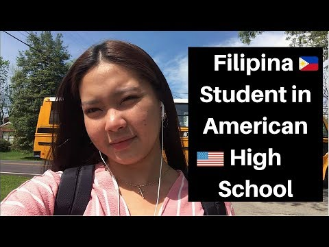 FILIPINA STUDENT IN AMERICAN HIGH SCHOOL!! (TEACHING TAGALOG WORDS)