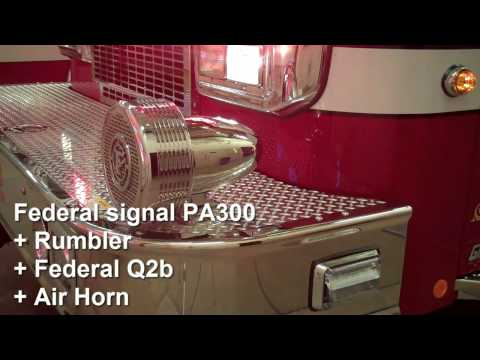 FIRE TRUCK SIREN WITH RUMBLER AND FEDERAL Q