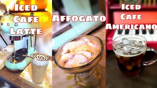 Coffee drinks using SMEG Espre…
