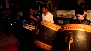 Traditional Lao music, Buddhist temple festival, Luang Prabang, Laos, February 2012