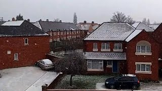Snow is seen in Leeds, Northern Ireland, Birmingham and Manchester....