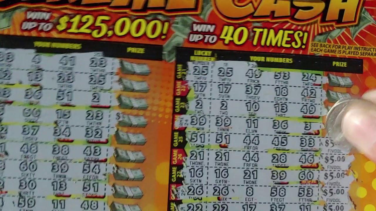 Scratch off lottery ticket $10 Xtreme Cash Minnesota Part 2