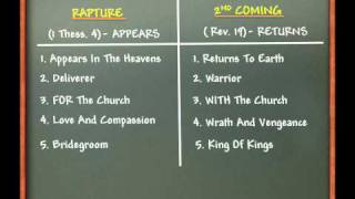 The Rapture Vs.The Second Coming Of Jesus Christ