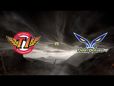 SK telecom T1 ( SKT ) vs Flash Wolves ( FW ) 1. Maç | MSI 2017 Yarı Final - Final Aşaması