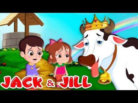 Jack and Jill Nursery Rhymes | Kids Songs with Lyrics | Went up the hill | FlickBox