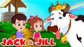 jack and jill nursery rhyme   children songs with lyrics   went up the hill