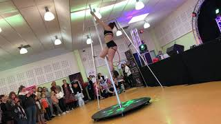 Démo pole dance au Salon du Tatouage de Guiscard en Avril 2019