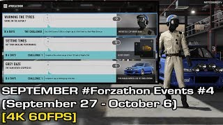 Forza Motorsport 7 - September #Forzathon Events #4 (September 27 - October 4) [4K 60FPS]