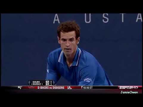 Andy Murray Vs Ernest Gulbis 2009 US Open Highlights
