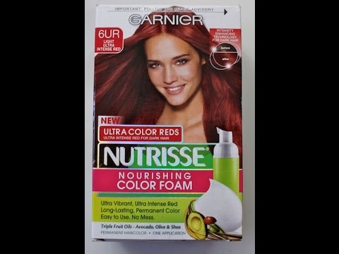 Garnier Nutrisse Color Foam Hair Dye Review