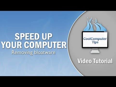 How To Speed Up Your Computer by Removing Bloatware