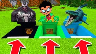 - Minecraft PE DO NOT CHOOSE THE WRONG SECRET BASE Venom, Teen Titans Go Mosasaurus