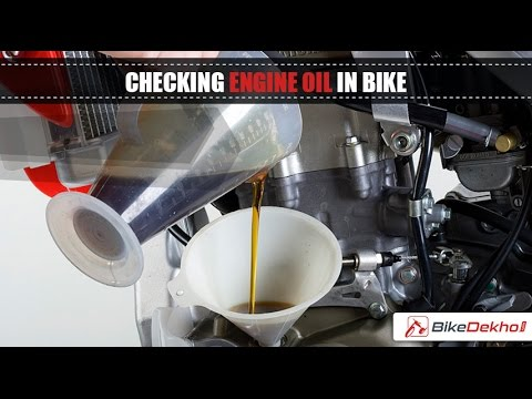 Engine Burning Oil >> How to Determine Your Bike Needs Engine Oil Change | BikeDekho.com - YouTube