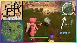 """""""Follow the treasure map found in Pleasant Park"""" Fortnite Week 7 Challenges COMPLETE!!"""