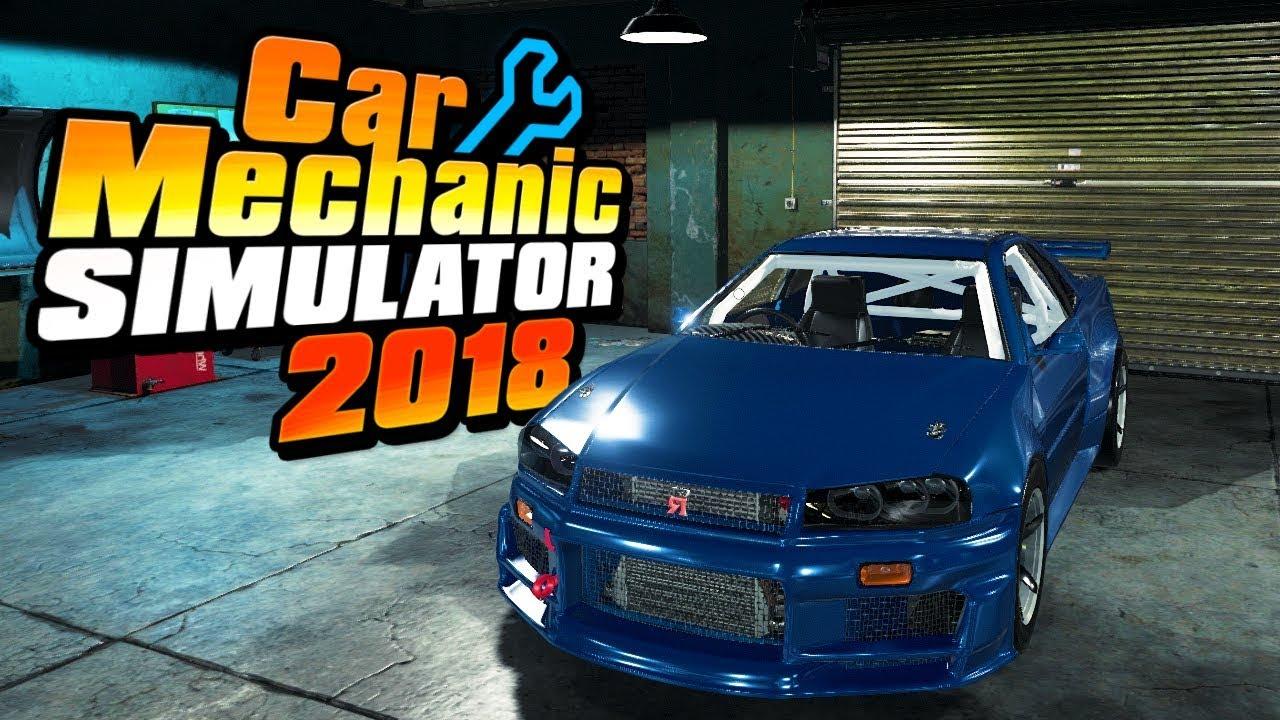RUN! IT'S GODZILLA! | Nissan Skyline R34 GTR | Car Mechanic Simulator 2018  Best Mod Ever