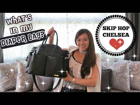 WHAT'S IN MY DIAPER BAG?!? | DOWNTOWN CHELSEA CHIC DIAPER BAG| Angie Lowis