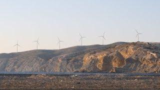 Wind Turbine Power Generators at Ocean Coastline at Sunset | Stock Footage - Videohive