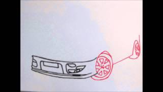 How to draw a Subaru Impreza | Step by step