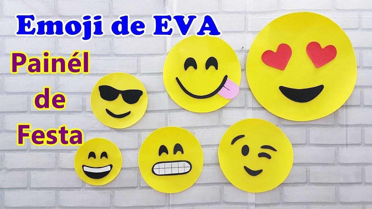 DIY EMOJI DE EVA Painel para Festa #outubroTODODIA YouTube -> Decoração De Emoji Para Festa
