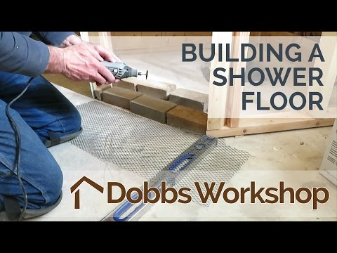 Building A Shower Floor From Scratch - Part 1 of 2