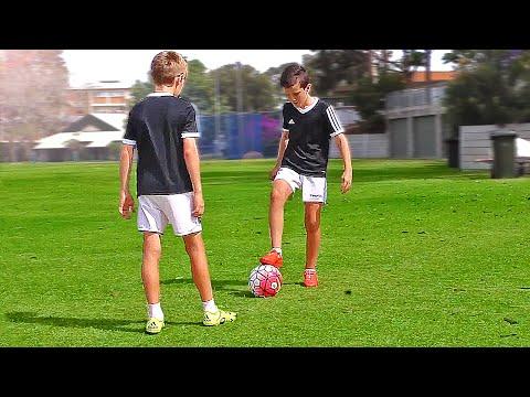 TOP 4 - Easy Football Skills For Kids & Beginner - Tutorial