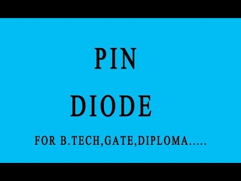 PIN DIODE IN HINDI - YouTube