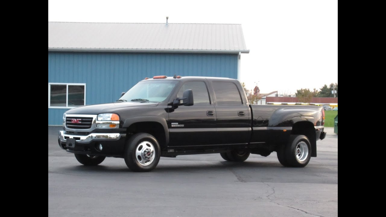 2007 gmc 3500 slt 4x4 duramax diesel sunroof dvd loaded sold youtube. Black Bedroom Furniture Sets. Home Design Ideas