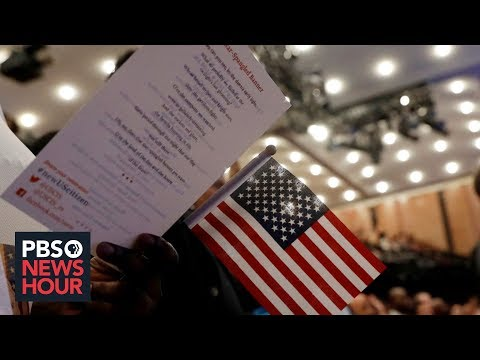 Newly naturalized Americans reflect on citizenship in a fraught political era