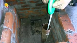 Скважина на даче - замер глубины (27,3м)