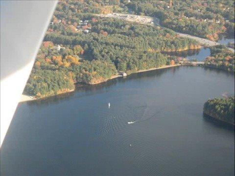 Scenic Cessna Flight Over Massachusetts