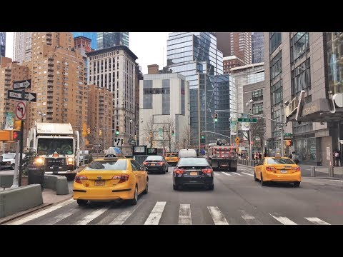 Driving Downtown - Broadway 4K  - New York City USA