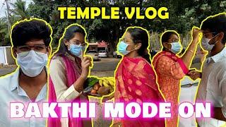 BAKTHI MODE ON 🙏😇 | TEMPLE VLOG WITH MOMMY | Just Banana | Vlog