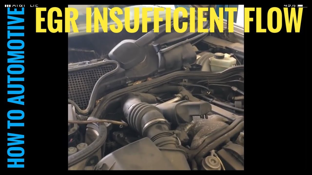 Intake Air Temperature Sensor >> How to Diagnose an EGR Valve on a Mercedes - YouTube