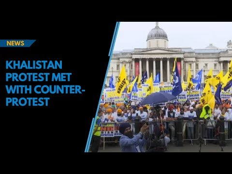 Over 3,000 Khalistani protestors met with counter-protests in London