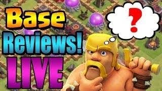 Clash of clans Live Stream Review Your Base|By Mirza Gamer