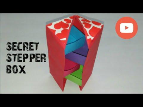 Secret stepper box /DIY box/beautiful box /how to make secret stepper box (mrin art)