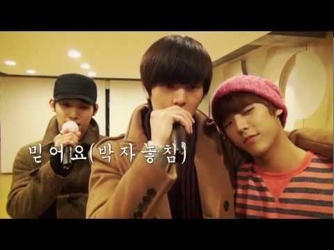 Sungjae n Hyunsik (BTOB) Singing TVXQ's I Believe