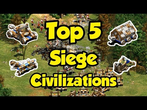 Top 5 Siege Civilizations in AoE2