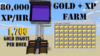 Gold+XP Farm Tutorial Bedrock Edition WORKS 1.16
