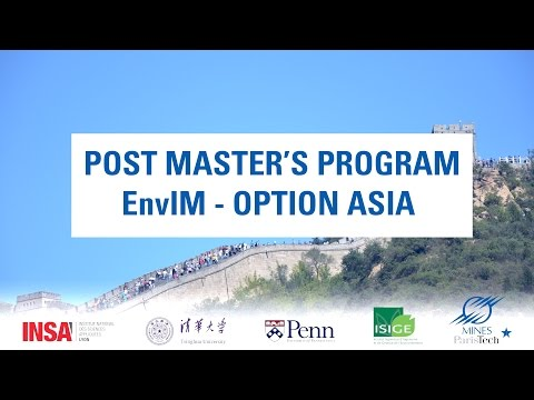 Post Master's Program EnvIM - Option Asia