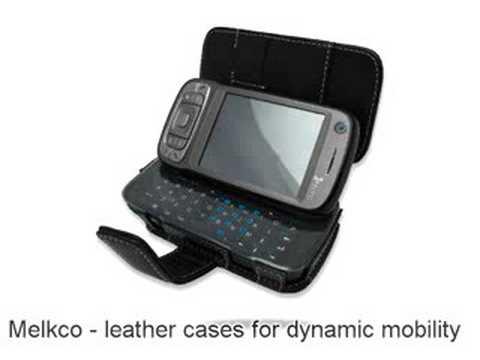 Melkco Tasche Leder Etui cuir ~HTC Kaiser 120 P4550/HTC TyTN II/MDA Vario III/Vodafone VPA Compact V/Vodafone v1615/AT&T Tilt 8925/EMONSTER S11HT - Book Type (Black)