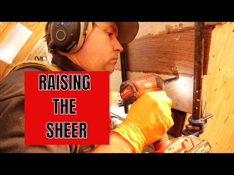 Diesel Duck wooden boat, building the raised sheer and good old fashioned woodworking.  SDP #63