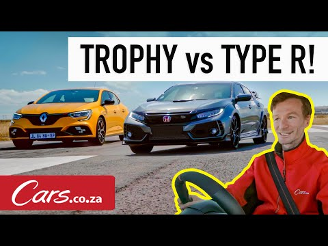 Drag race! Honda Civic Type R vs Renault Megane RS 300 Trophy (one of our closest ever!)