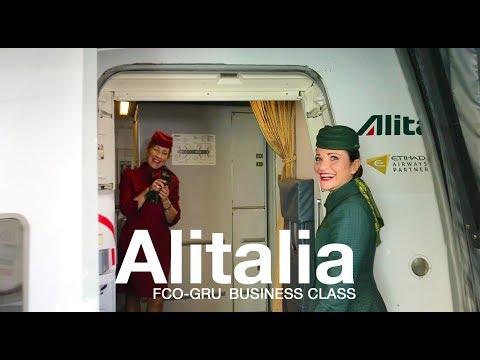 ALITALIA MAGNIFICA Business Class Roma - Sao Paulo |  BOEING 777-200ER